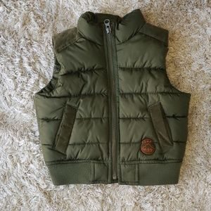 12-18m Baby Gap Olive Green puffer vest